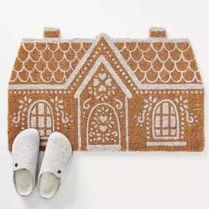 Anthropologie Gingerbread House Doormat